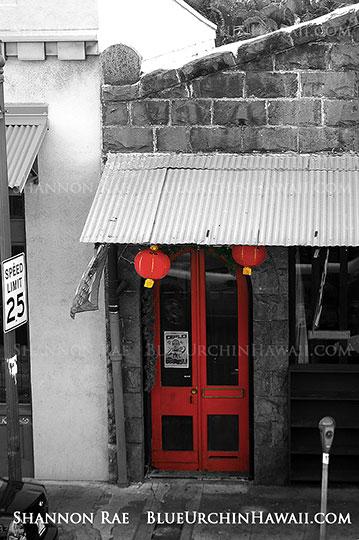 Red door photo print